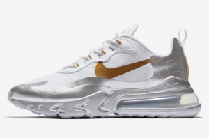CQ4597 110 Nike Air Max 270 React City of Speed White Metallic Silver 2020 For Sale 300x201