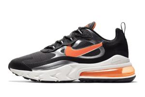 CQ4598 084 Nike Air Max 270 React Black Total Orange 2020 For Sale 300x201