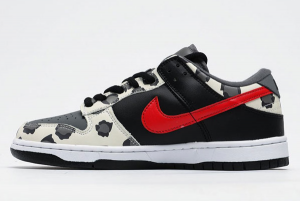 CU1727 006 Nike SB Dunk Low Black Red Cow 2020 For Sale 300x201