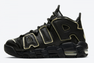 DD3038 001 Nike Air More Uptempo GS Black Gold 2020 For Sale 300x201