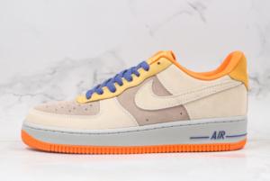 DD7209 105 Nike Air Force 1 07 Low Beige Grey Orange Yellow 2020 For Sale 300x201