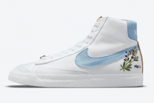 2021 Brand New Nike Blazer Mid '77 Indigo DC9265-100 Shoes