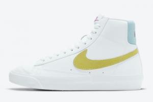 2021 New Nike Blazer Mid 77 GS White DH4112-100 On Sale