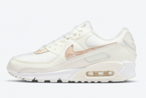 2021 New Nike Wmns Air Max 90 Beige Snake DH4115-101 For Sale