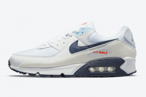 2021 Nike Air Max 90 Navy/Off-White Outlet DM2820-100