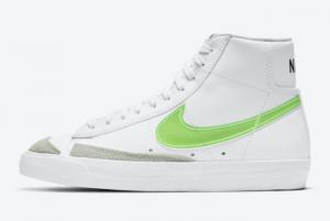 2021 Nike Blazer Mid Green Swoosh To Buy DJ3050-100