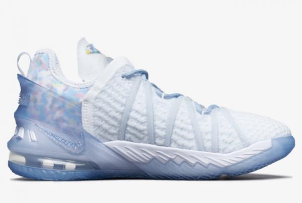 2021 Nike LeBron 18 NRG GS Blue Tint CW3156-400 Sport Shoes-1