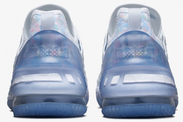 2021 Nike LeBron 18 NRG GS Blue Tint CW3156-400 Sport Shoes-2