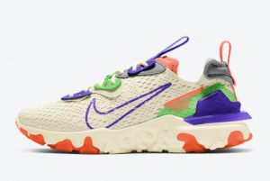 2021 Nike React Vision Beige/Green-Purple-Coral CI7523-104