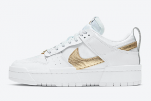2021 Nike Wmns Dunk Low Disrupt Metallic Gold DD9676-100 New Arrival