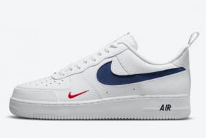 Cheap Nike Air Force 1 '07 LV8 USA White Navy DJ6887-100