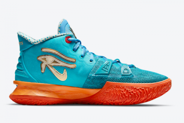 Concepts x Nike Kyrie 7 Teal Blue/Orange-Metallic Gold CT1137-900 For Sale Online-1