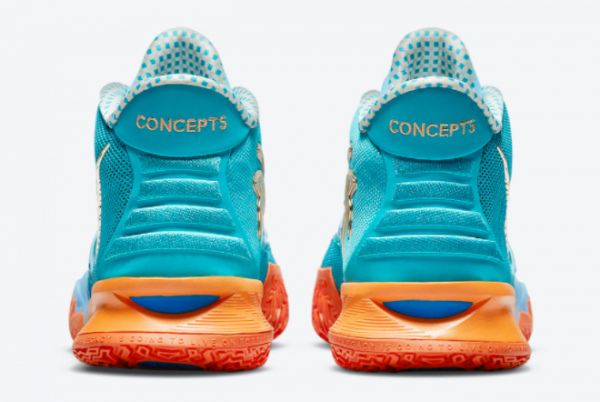 Concepts x Nike Kyrie 7 Teal Blue/Orange-Metallic Gold CT1137-900 For Sale Online-2