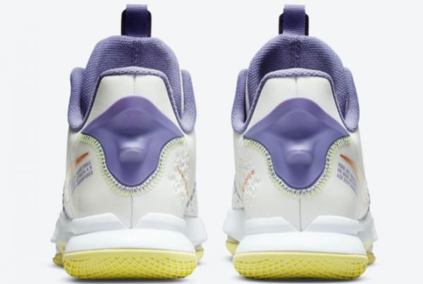 Hot Sale Nike LeBron Witness 5 Pastel Lakers CQ9381-102-2