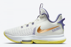 Hot Sale Nike LeBron Witness 5 Pastel Lakers CQ9381-102
