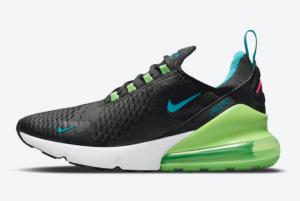 Men's Nike Air Max 270 Black/Neon Blue-Green DJ5136-001 New Released