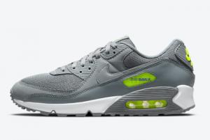 Men's Nike Air Max 90 Grey Neon DJ6881-002 Sport Shoes