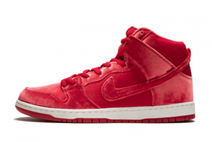Nike SB Dunk High Premium Red Velvet 313171-661 For Sale