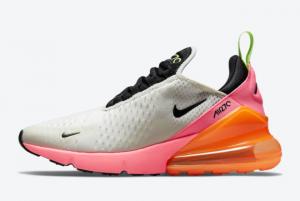 2021 Cheap Nike Air Max 270 Sail/Black/Pink/Volt/Orange DJ5997-100