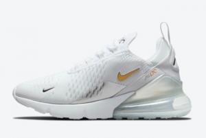 2021 Latest Nike Air Max 270 White/Metallic Silver-Metallic Gold DJ5136-001