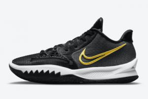 2021 Latest Nike Kyrie Low 4 Black/Yellow-White CZ0105-001