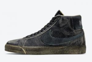 2021 Latest Nike SB Blazer Mid Flourishing Black DA1839-001 Online Sale