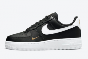 2021 Nike Air Force 1 Low Black/Metallic Gold-White CZ0270-001 Casual Shoes For Sale