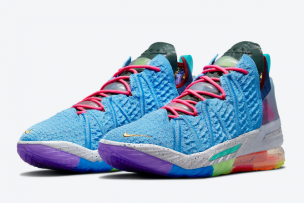 2021 Nike LeBron 18 What The Multicolor DM2813-400 Online Sale-3