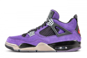 2021 Travis Scott x Air Jordan 4 Retro Purple Suede To Buy 766296 LN4