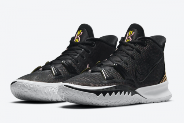 Best Sell Nike Kyrie 7 Ripple Effect Black Pink Yellow CQ9326-005-3