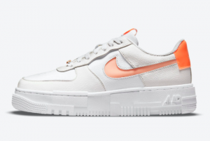 Best Sell Nike Wmns Air Force 1 Pixel White Orange Shoes DM3036-100