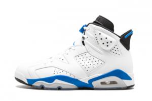 Brand New Air Jordan 6 Retro Sport Blue Basketball Shoes 384664-107