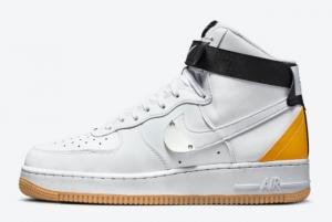 Brand New NBA x Nike Air Force 1 High University Gold CT2306-101 Sale