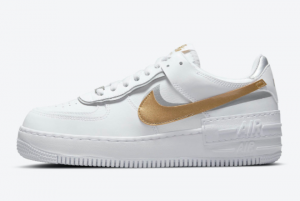 Brand New Nike Air Force 1 Shadow White Gold For Sale DM3064-100