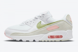 Brand New Nike Wmns Air Max 90 White/Light Olive-Light Pink DM2874-100