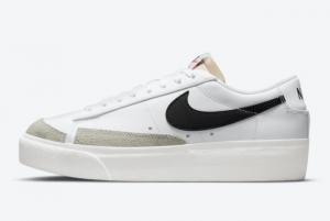 Discount Nike Blazer Low Platform White Black DJ0292-101
