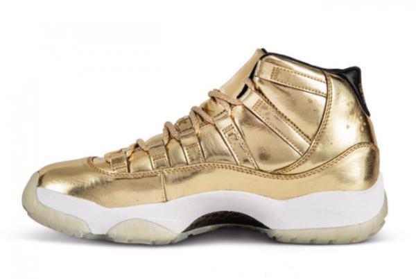High Quality Air Jordan 11 Retro Metallic Gold Shoes For Men-1