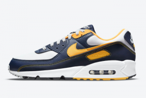 Latest Nike Air Max 90 Michigan DC9845-101 Running Shoes