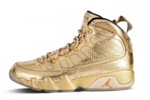 Latest Release Air Jordan 9 Metallic Gold in Men's Sizing