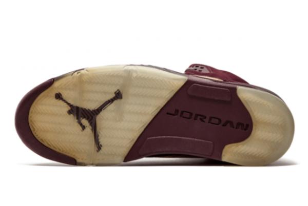 Men's Air Jordan 5 Retro LS Burgundy 314259-602 New Released-1