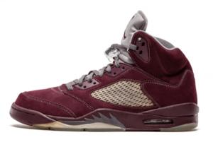 Men's Air Jordan 5 Retro LS Burgundy 314259-602 New Released