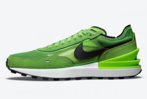 New Nike Waffle One Electric Green DA7995-300 Lifestyle Shoes