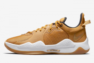 New Released Nike PG 5 Beige Gold CW3143-700