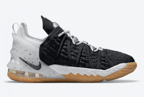 2021 Nike LeBron 18 GS Black Gum CW2760-007 Sport Shoes-1