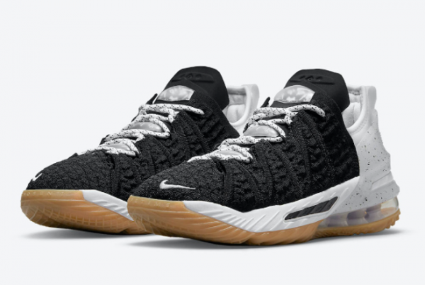 2021 Nike LeBron 18 GS Black Gum CW2760-007 Sport Shoes-3