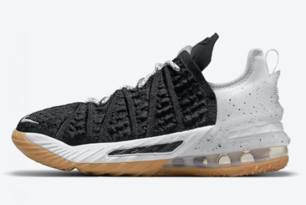 2021 Nike LeBron 18 GS Black Gum CW2760-007 Sport Shoes