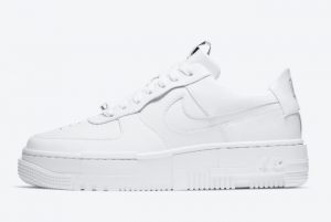 2020 Nike Air Force 1 Pixel Triple White CK6649-100 Lifestyle Shoes