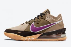 2021 atmos x Nike LeBron 18 Low Viotech CW3153-200 Basketball Shoes