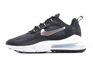 2021 Cheap Nike Air Max 270 React Black/Metallic Silver-White CQ4598-071