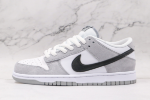 2021 High Quality Nike SB Zoom Dunk Low Pro White Grey Black 854866-012